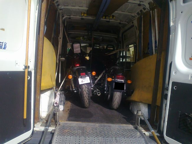 camion moto merlino pour Harley